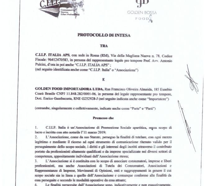 PROTOCOLLO DI INTESA CILP ITALIA, GOLDEN BOSSA FOOD_page-0001