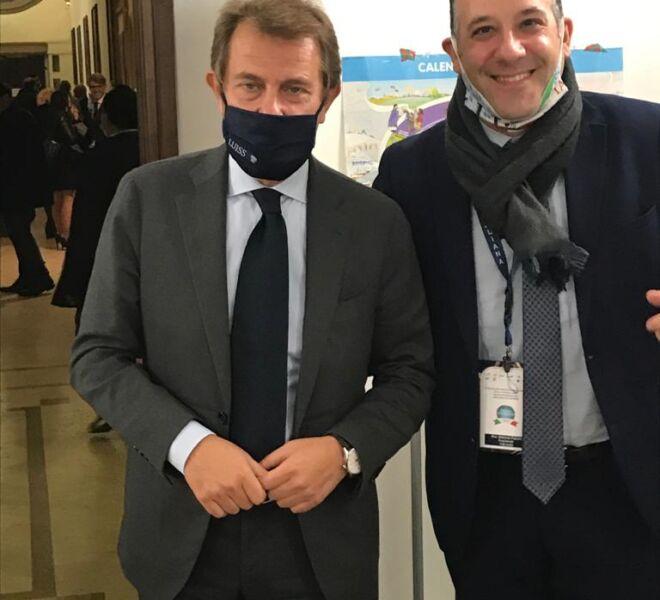 l'Avv. Pulcini e il giornalista Francesco Giorgino