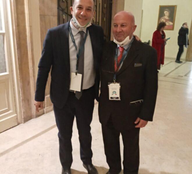 l'Avv. Pulcini ed il Presidente di Asmef e Confinternational, Salvo Iavarone