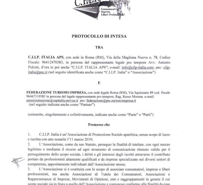 protocollo cilp e federazione turismo impresa