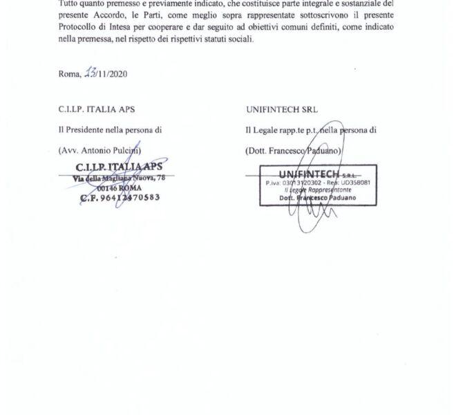 protocollo cilp italia,unifintech4